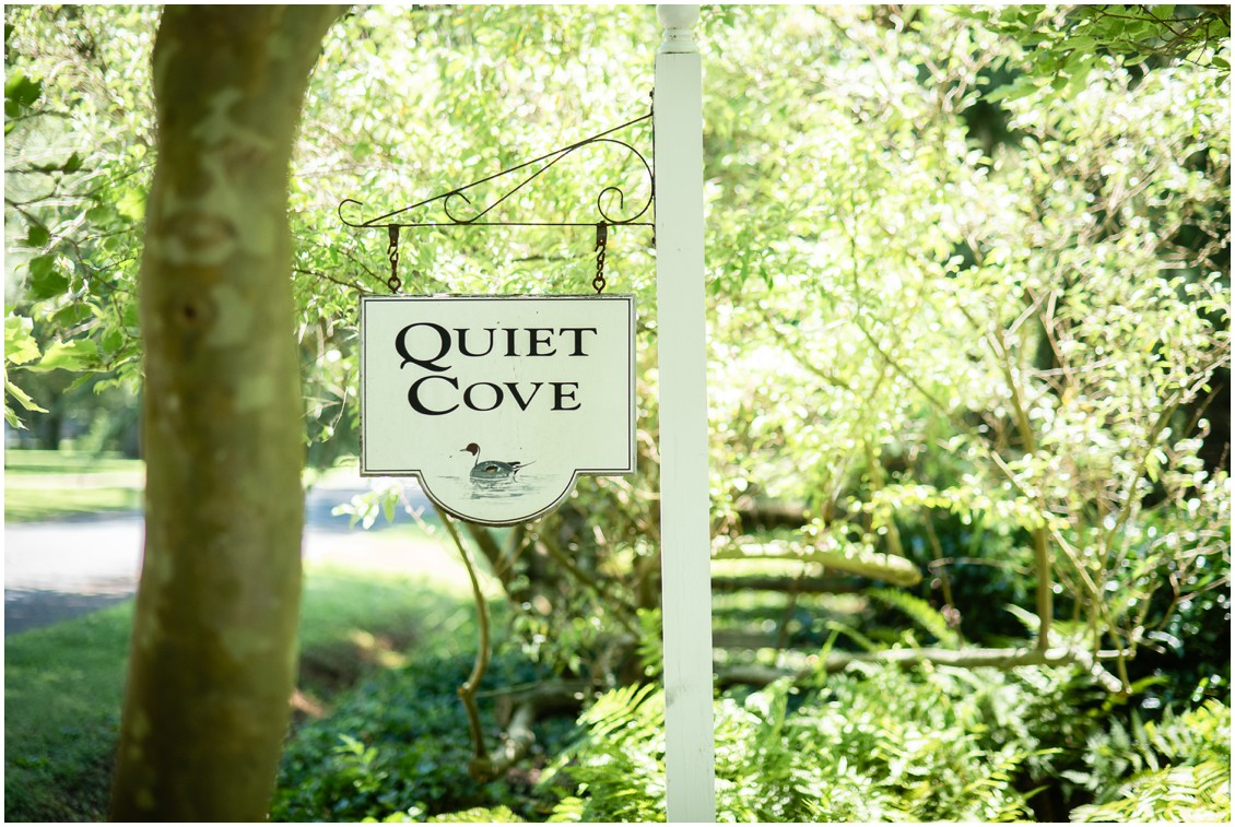 Quiet Cove Sign | My Eastern Shore Wedding