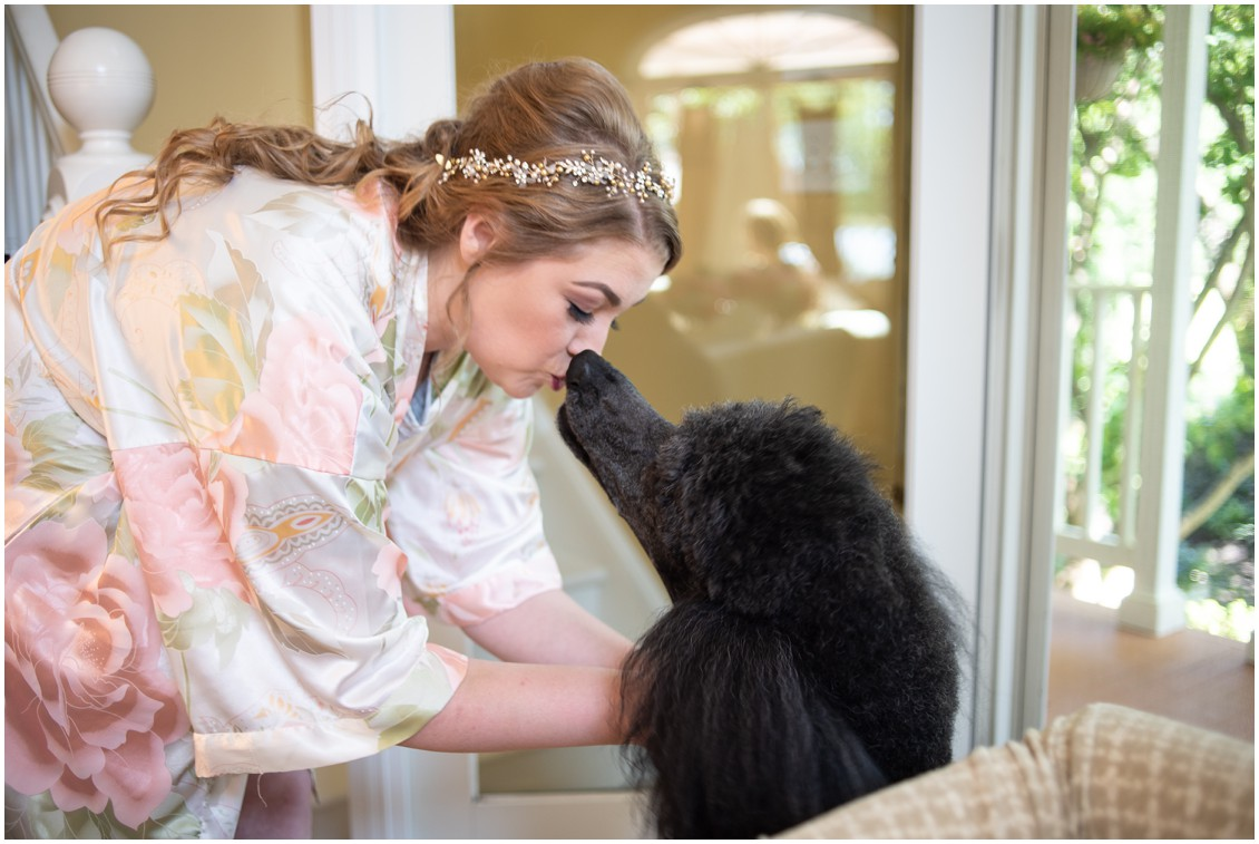 Bride with poodle | My Eastern Shore Wedding