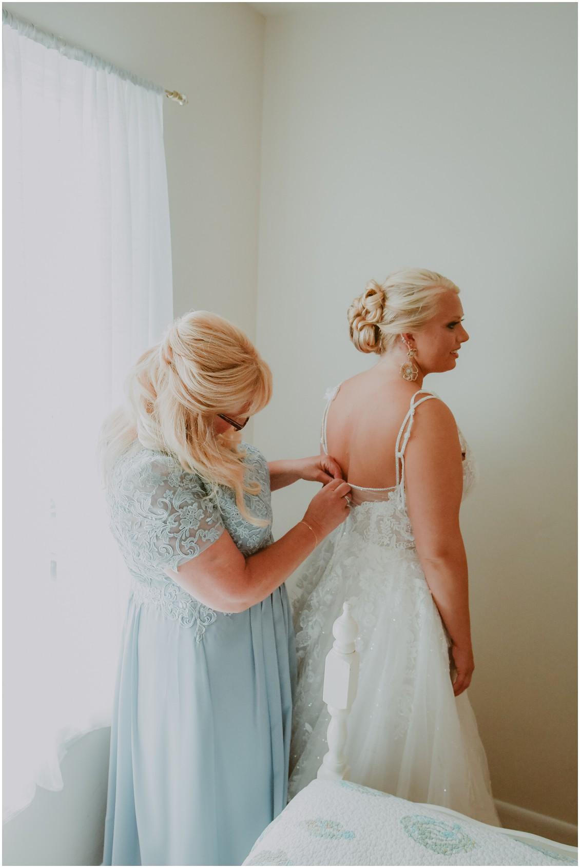 Bride getting ready | My Eastern Shore Wedding