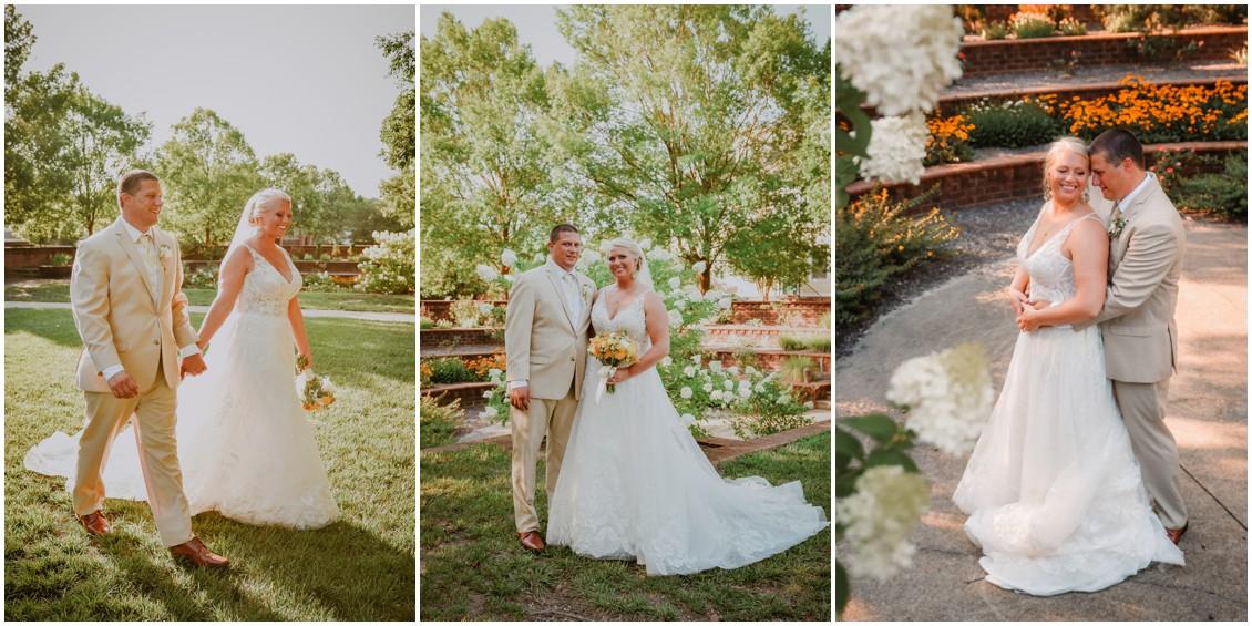 Bride and groom portraits sunny summer wedding | My Eastern Shore Wedding