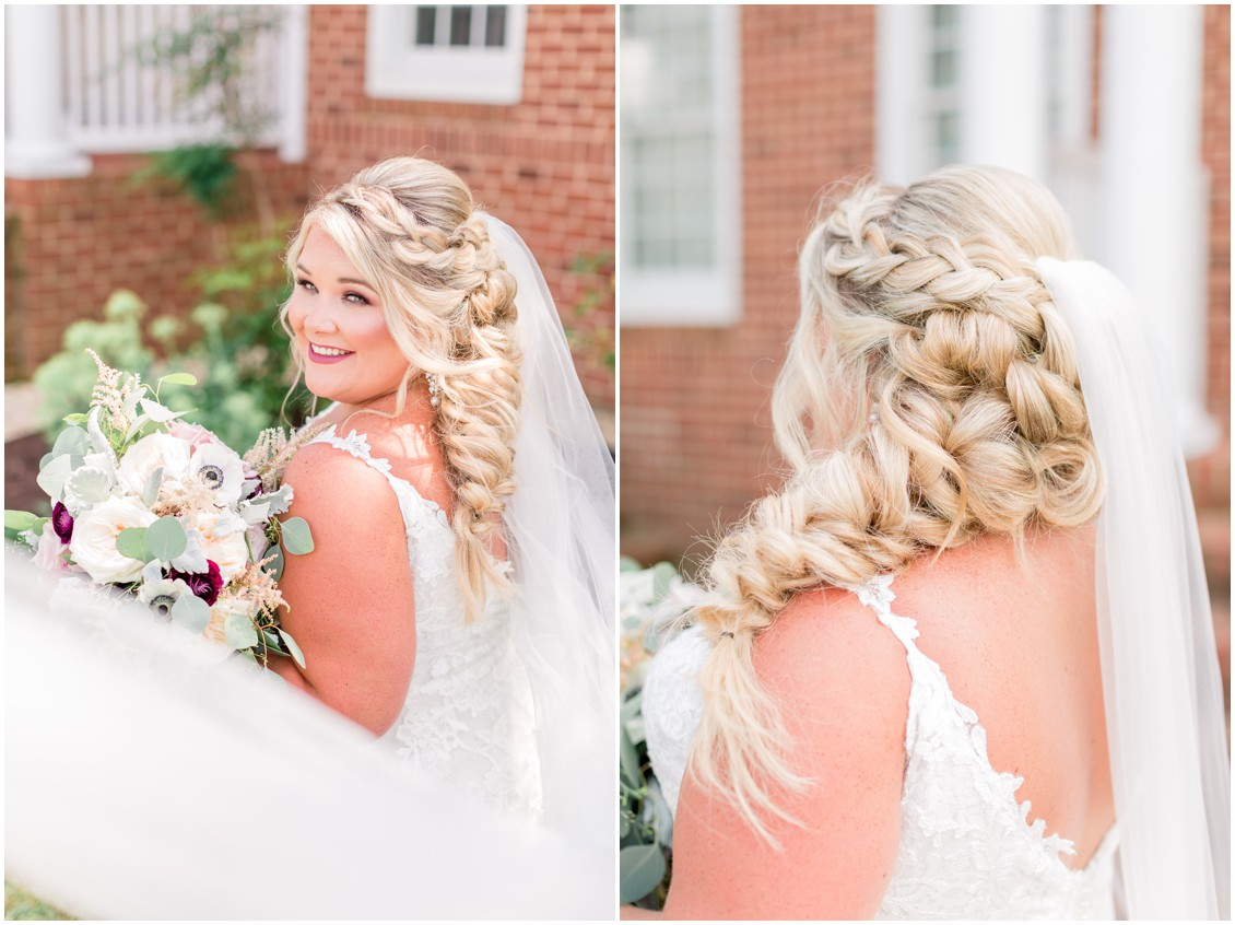 Bridal portraits, pink and blue barn wedding   My Eastern Shore Wedding   Cassidy Mister Photography   East Vintage Charm