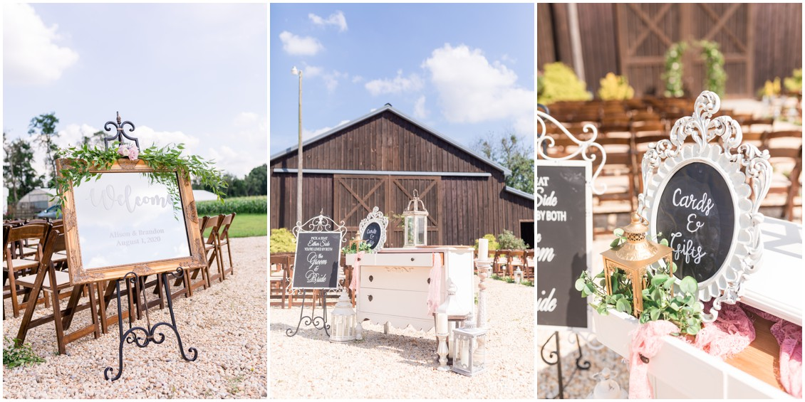 Ceremony Details,  pink and blue barn wedding   My Eastern Shore Wedding   Cassidy Mister Photography   East Vintage Charm