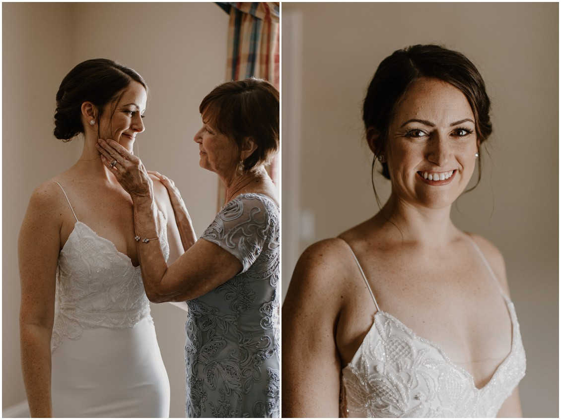 Bridal portrait in simple and stunning gown | My Eastern Shore Wedding |The Tidewater Inn