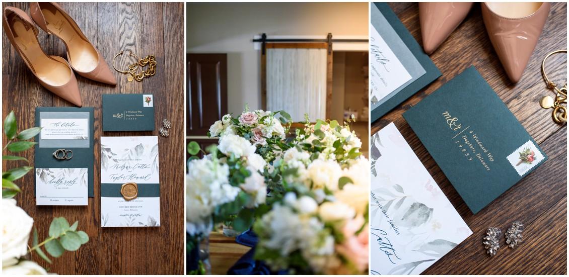 Bridal bouquet, stationery, details | My Eastern Shore Wedding | J Nicole Photography