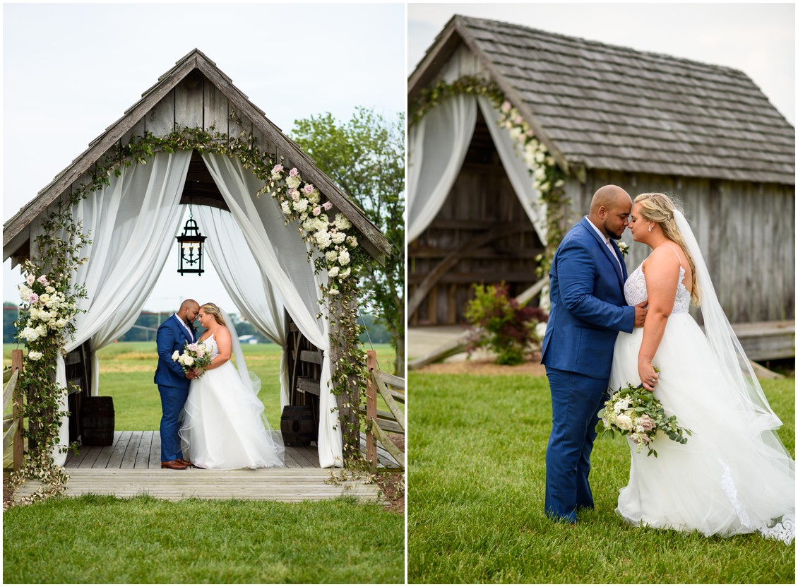 bride and groom portrait happily ever after | My Eastern Shore Wedding | J Nicole Photography