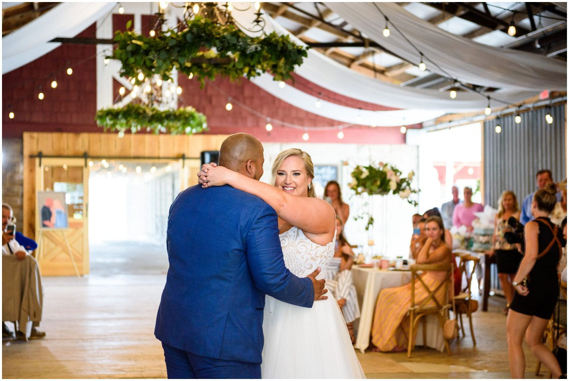 bride and groom first dance happily ever after | My Eastern Shore Wedding | J Nicole Photography