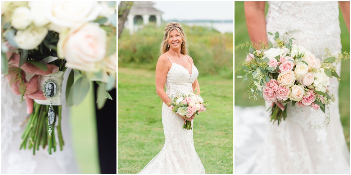 Bridal portraits romantic elopement | My Eastern Shore Wedding | Alexandra Kent Photography | Chesapeake Blooms