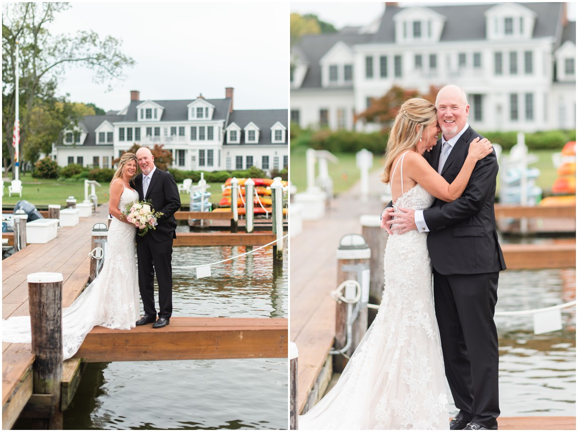 Bride and groom romantic elopement portraits| My Eastern Shore Wedding | Alexandra Kent Photography | Chesapeake Blooms