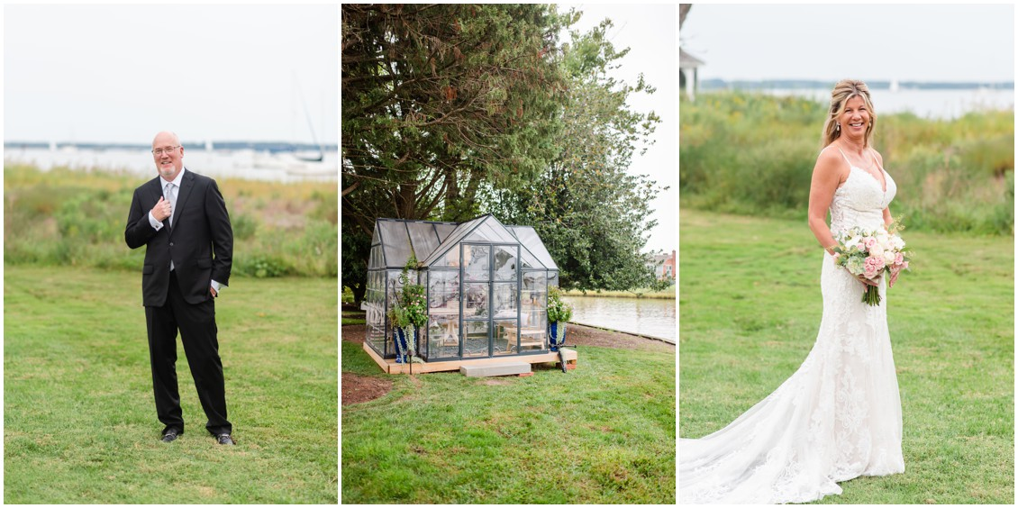 Bride and groom romantic elopement portraits | My Eastern Shore Wedding | Alexandra Kent Photography | Chesapeake Blooms