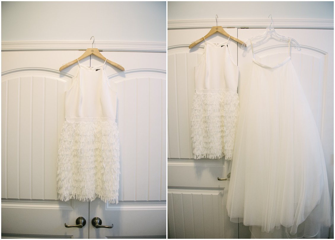 Wedding dress with removable skirt | My Eastern Shore Wedding | Erin Wheeler Photography | Bayside Resort Golf Club