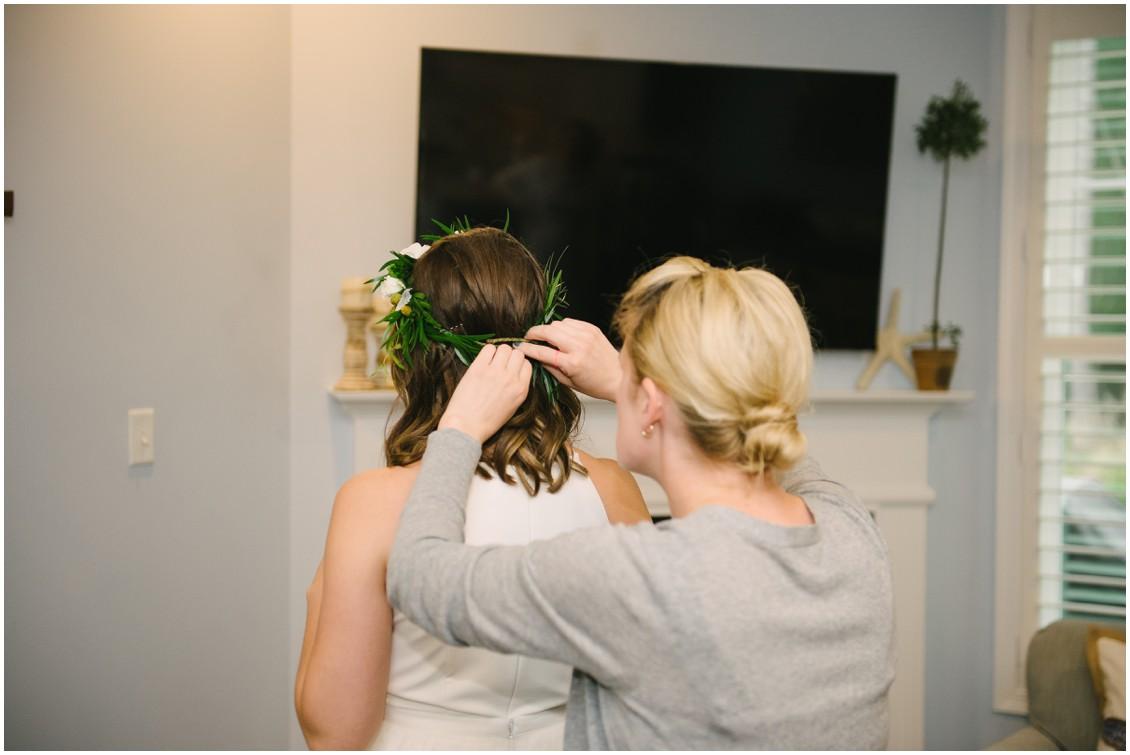 Bride getting ready | My Eastern Shore Wedding | Erin Wheeler Photography | Bayside Resort Golf Club