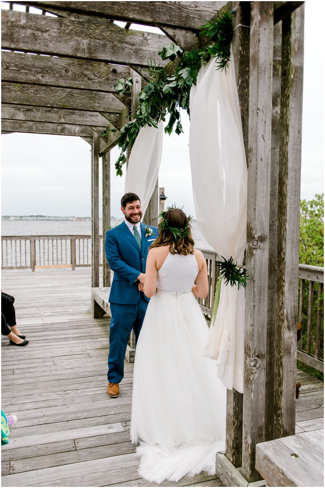 Groom and bride ceremony naturally beautiful wedding | My Eastern Shore Wedding | Erin Wheeler Photography | Bayside Resort Golf Club | My Eastern Shore Wedding | Erin Wheeler Photography | Bayside Resort Golf Club