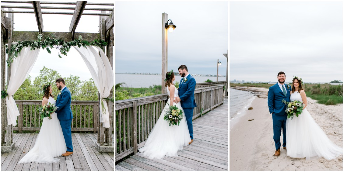 Bride and groom portraits | Naturally Beautiful Bayside Wedding | My Eastern Shore Wedding | Erin Wheeler Photography | Bayside Resort Golf Club