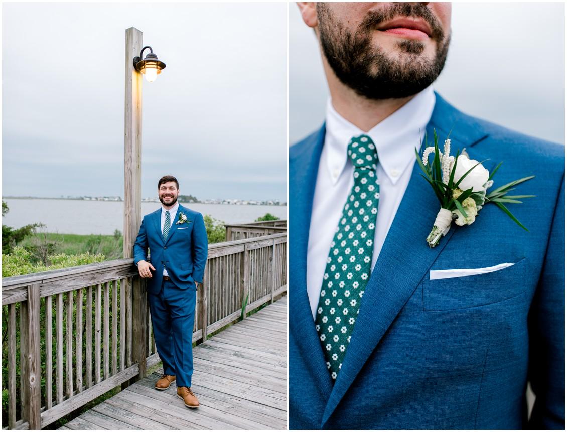 Groom portraits |  Naturally Beautiful Bayside Wedding| My Eastern Shore Wedding | Erin Wheeler Photography | Bayside Resort Golf Club