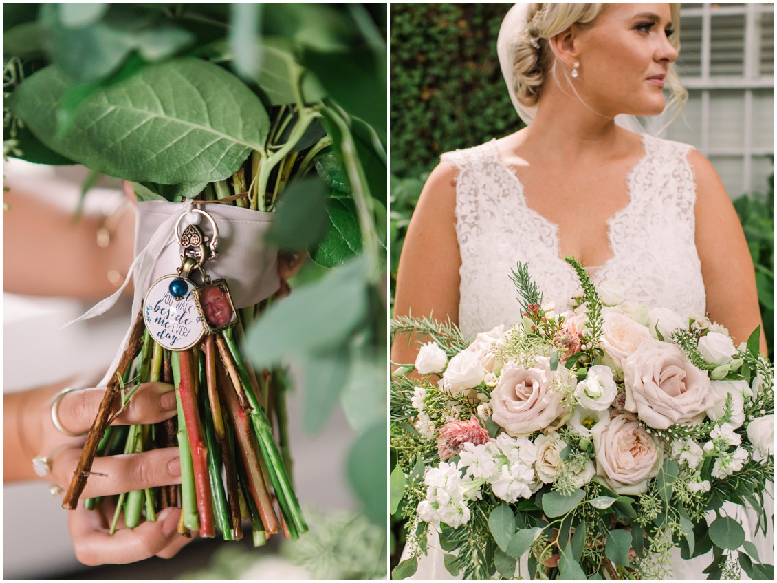 Bridal portrait blush details| My Eastern Shore Wedding | J Starr's Flower Barn | Laura's Focus Photography