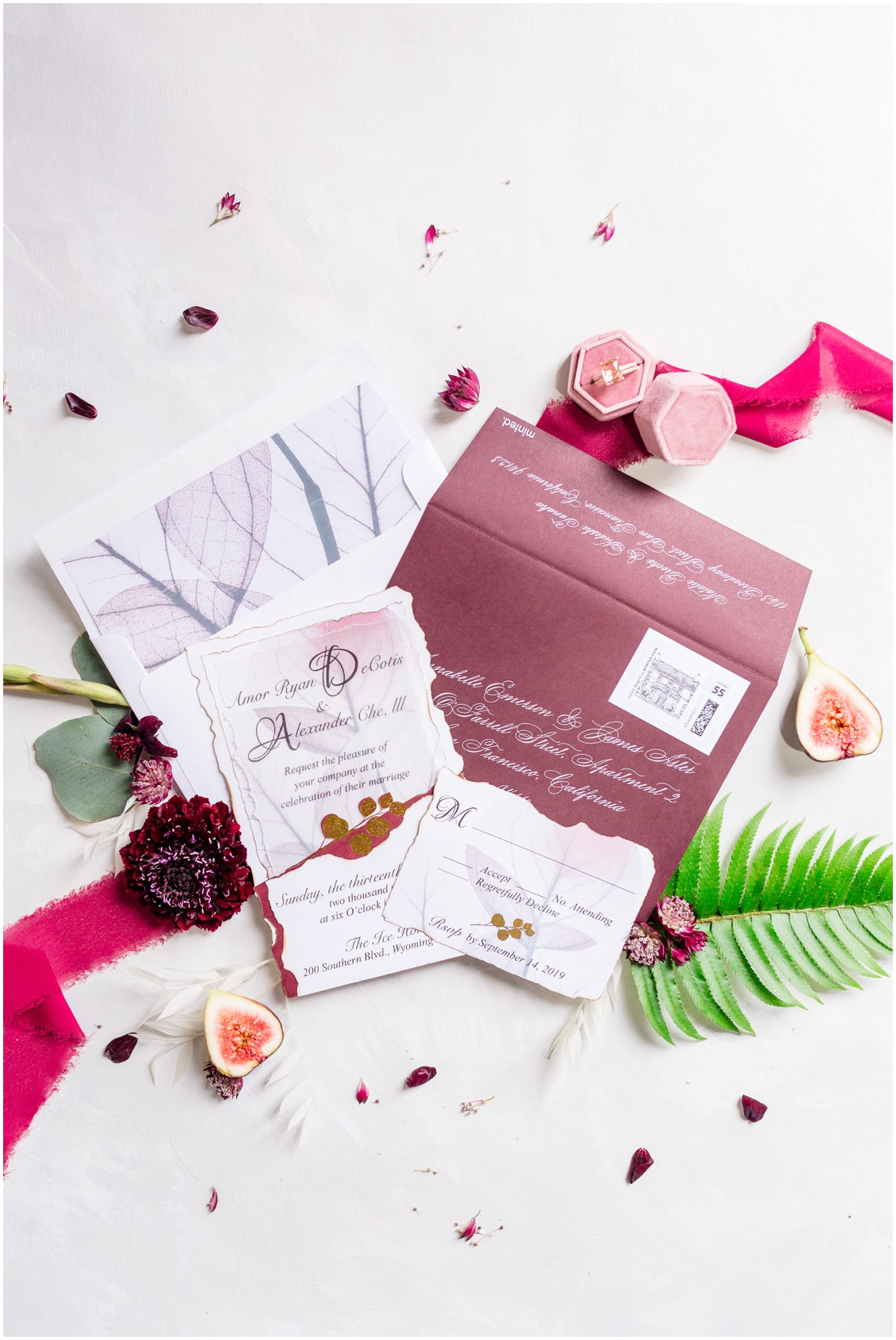 Past meets present wedding stationery suite | My Eastern Shore Wedding | Cassidy Mister Photography