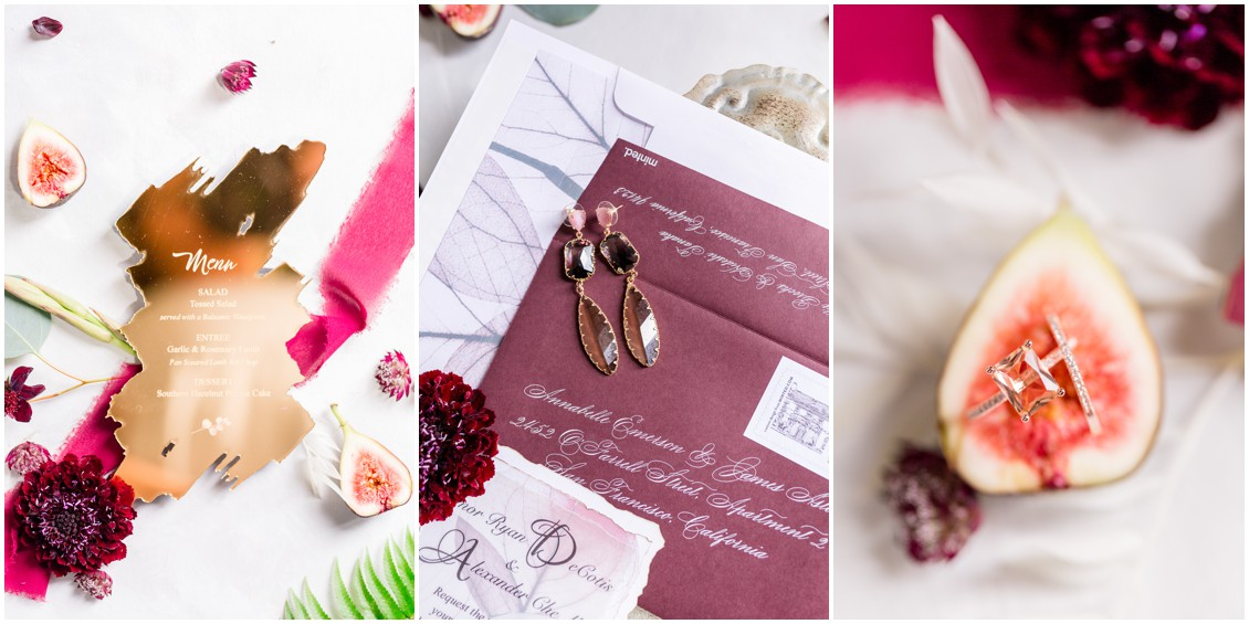 Past meets present wedding stationery suite and bridal details| My Eastern Shore Wedding | Cassidy Mister Photography