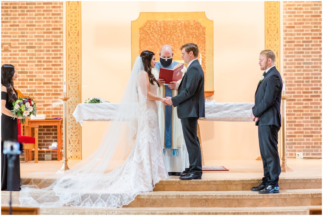 Marriage ceremony in church microwedding | Love will find a way| My Eastern Shore Wedding | Alexandra Kent Photography