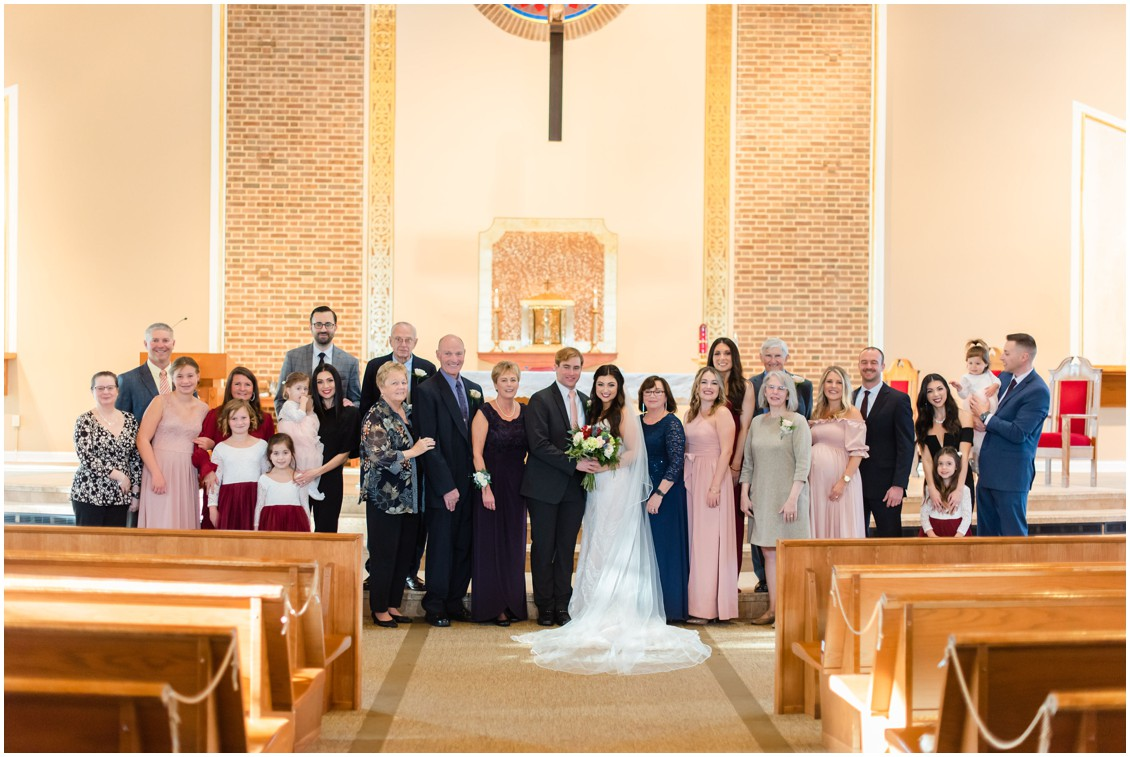 Entire wedding portrait in church microwedding | Love will find a way| My Eastern Shore Wedding | Alexandra Kent Photography