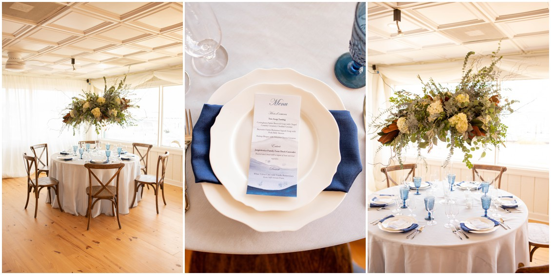 Winter wedding tablescape | My Eastern Shore Wedding | J. Starr's Flower Barn | Price Rentals