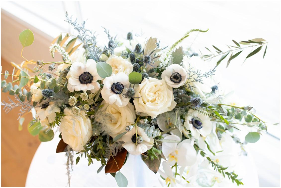 Details of winter white bouquet | My Eastern Shore Wedding | J. Starr's Flower Barn | Mill Stream Farm and Bakeshop