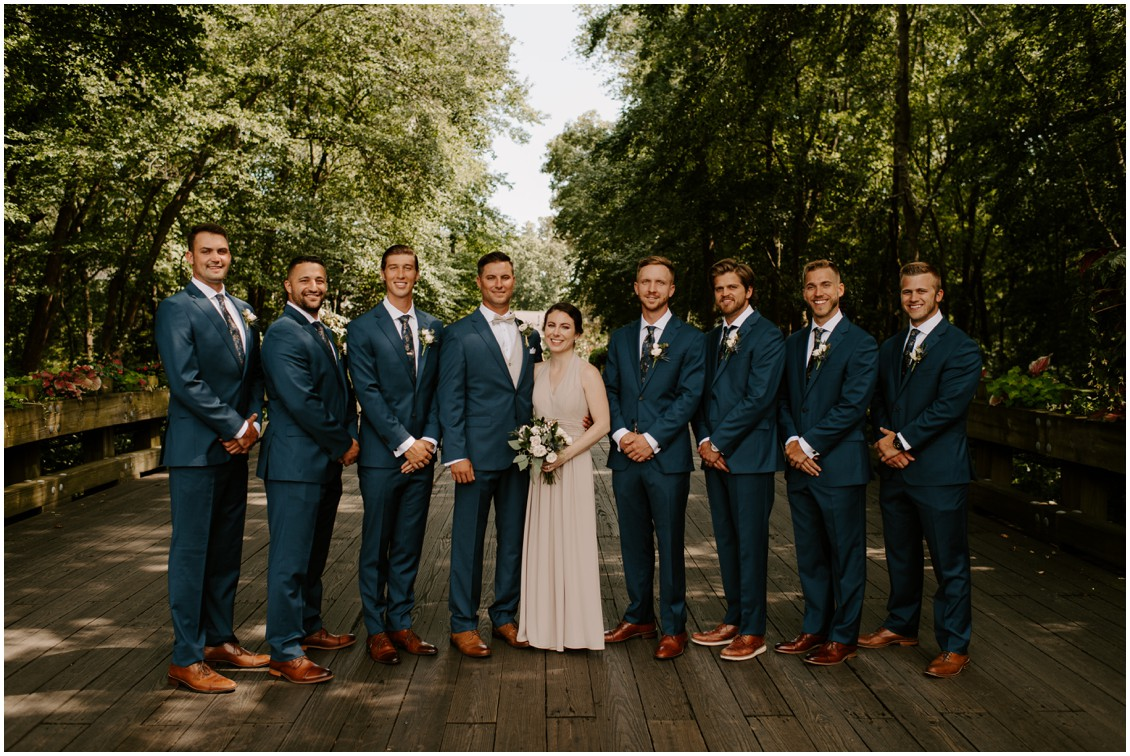 Simply timeless wedding groomsmen in blue suits | My Eastern Shore Wedding | Baywood Weddings