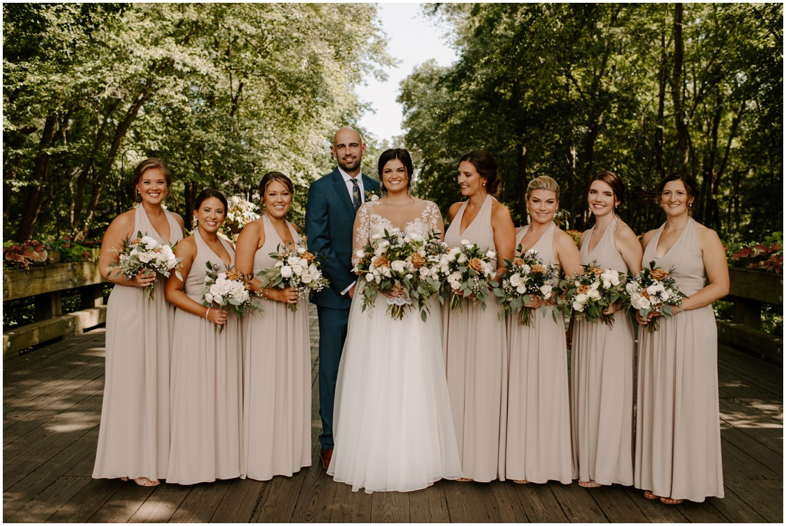 Simply timeless wedding bridesmaids in nude color dresses  | My Eastern Shore Wedding | Baywood Weddings