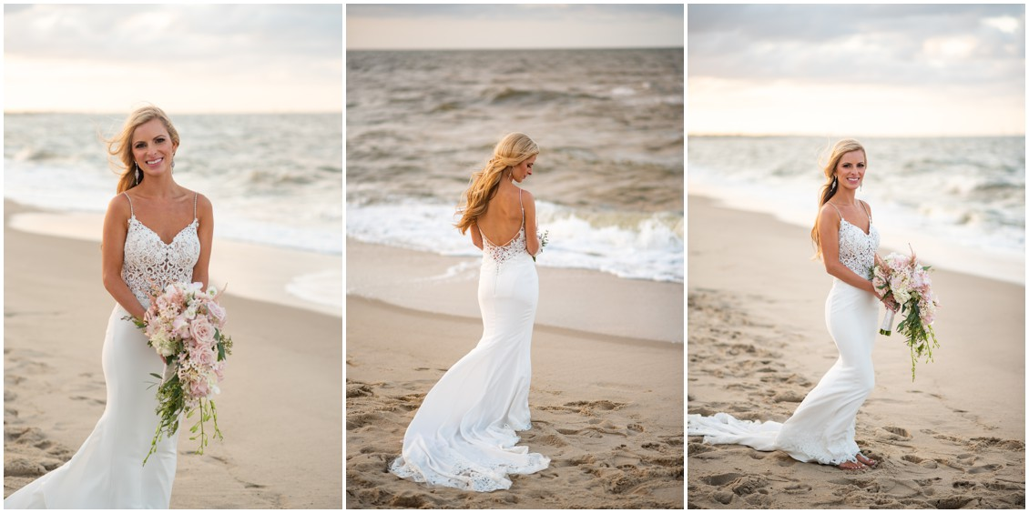 Dreamy Beach-side bridal portrait   My Eastern Shore Wedding   J. Nicole Photography