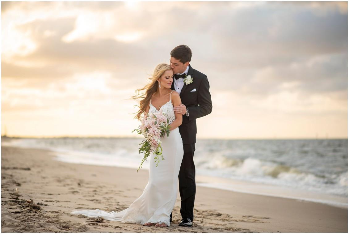 Dreamy Beach side wedding portrait   My Eastern Shore Wedding   J. Nicole Photography