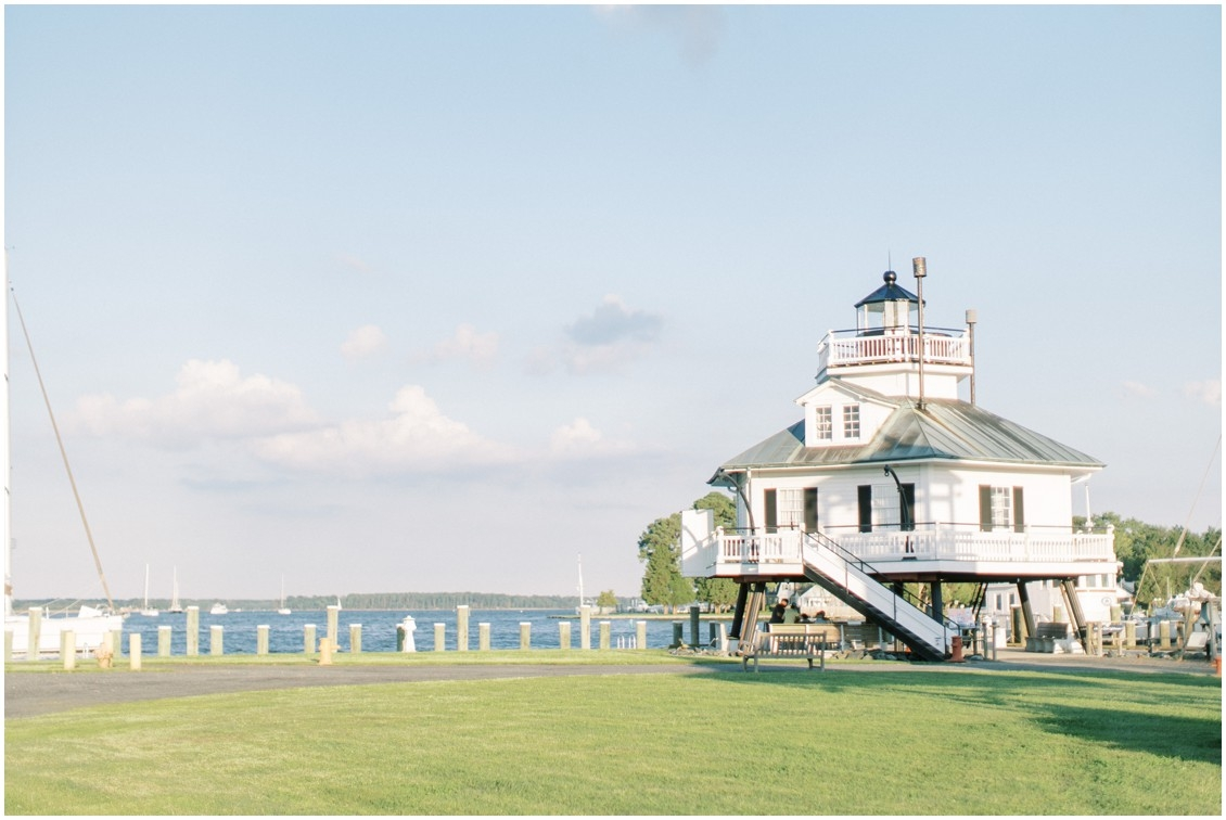 Photo of lighthouse at Chesapeake Bay Maritime Museum in St. Michaels | My Eastern Shore Wedding | Sweetbay Flowers