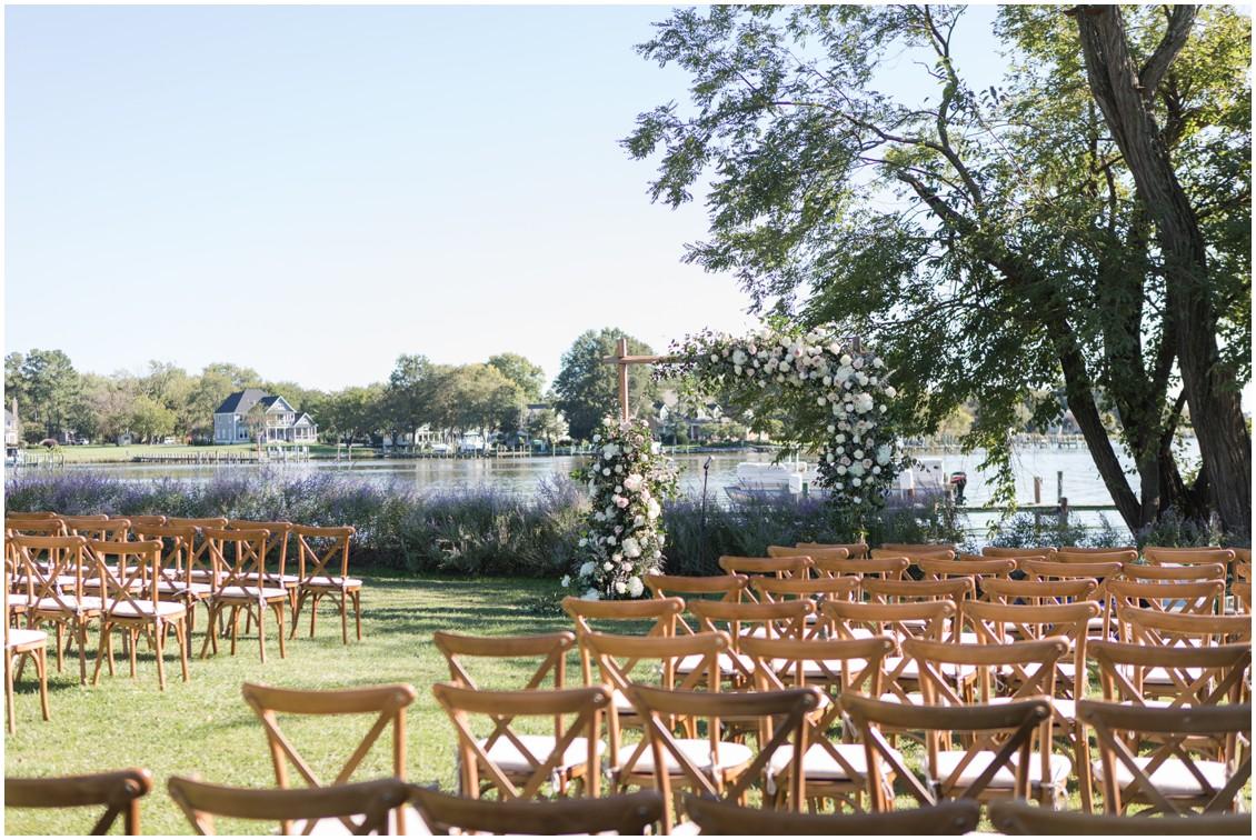 Gorgeous floral arch neutral flowers  | My Eastern Shore Wedding | J Starr's Flower Barn