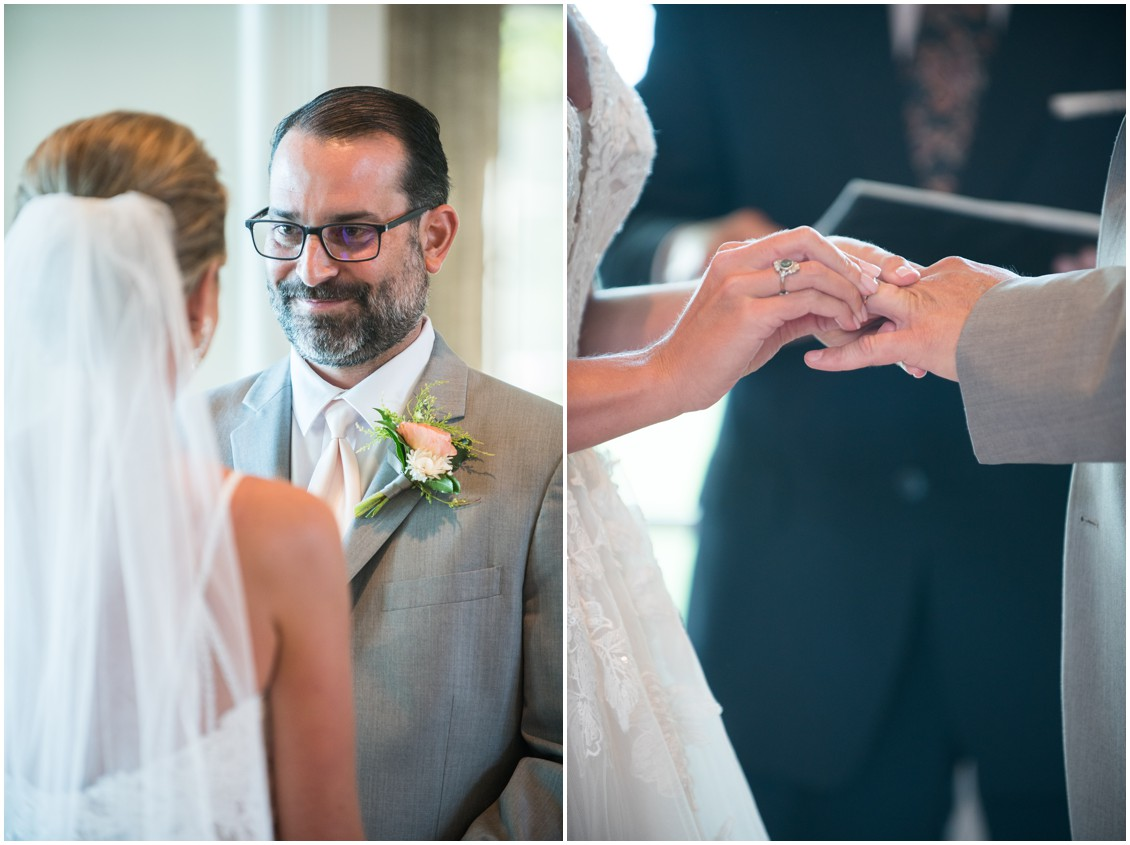 Wedding ceremony at elegant and intimate at-home wedding | My Eastern Shore Wedding | Melissa Grimes-Guy Photography | Beginning Memories
