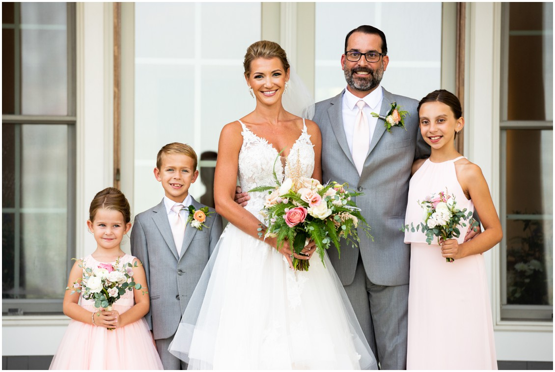 Bride and groom portrait at elegant and intimate at-home wedding | My Eastern Shore Wedding | Melissa Grimes-Guy Photography | Sweetbay Flowers