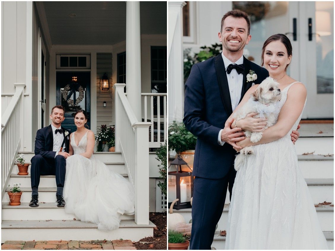 Bride and groom portrait--pivot to perfection, classical eastern shore wedding | My Eastern Shore Wedding