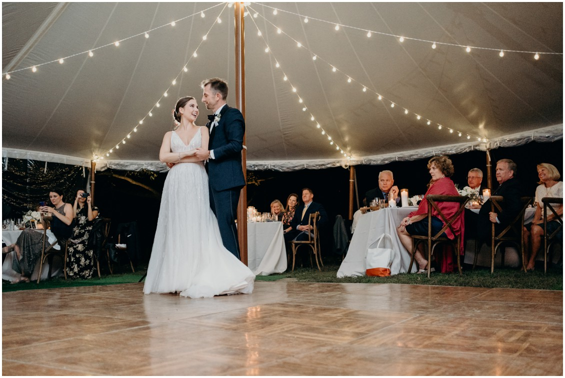 Bride and groom portrait--pivot to perfection, classical eastern shore wedding | My Eastern Shore Wedding | Price Rentals & Events