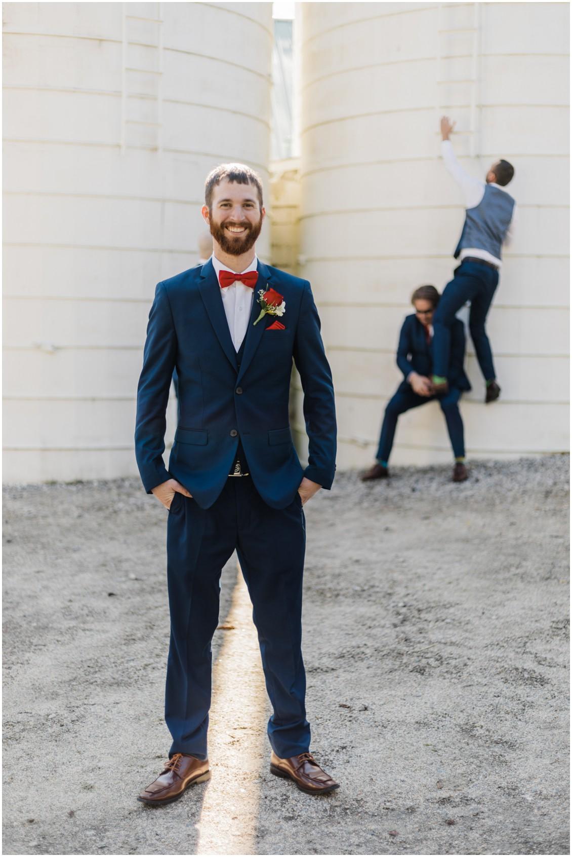 Groom getting ready at  sweet as pie DIY Worsell Manor Wedding | My Eastern Shore Wedding